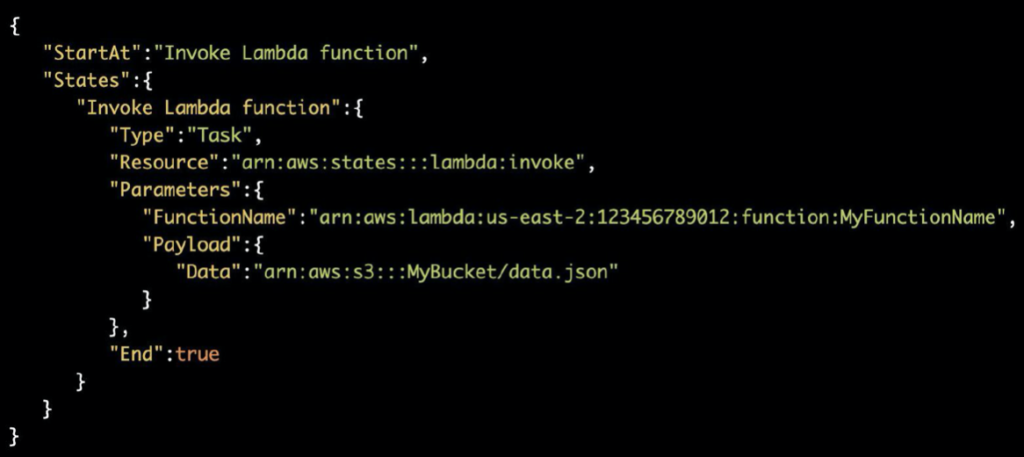 Step Functions: Import S3 payloads