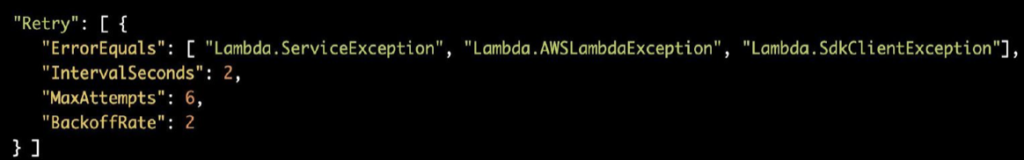 Step Functions: Handling Lambda Exceptions