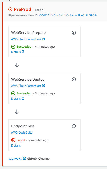 AWS CodePipeline error