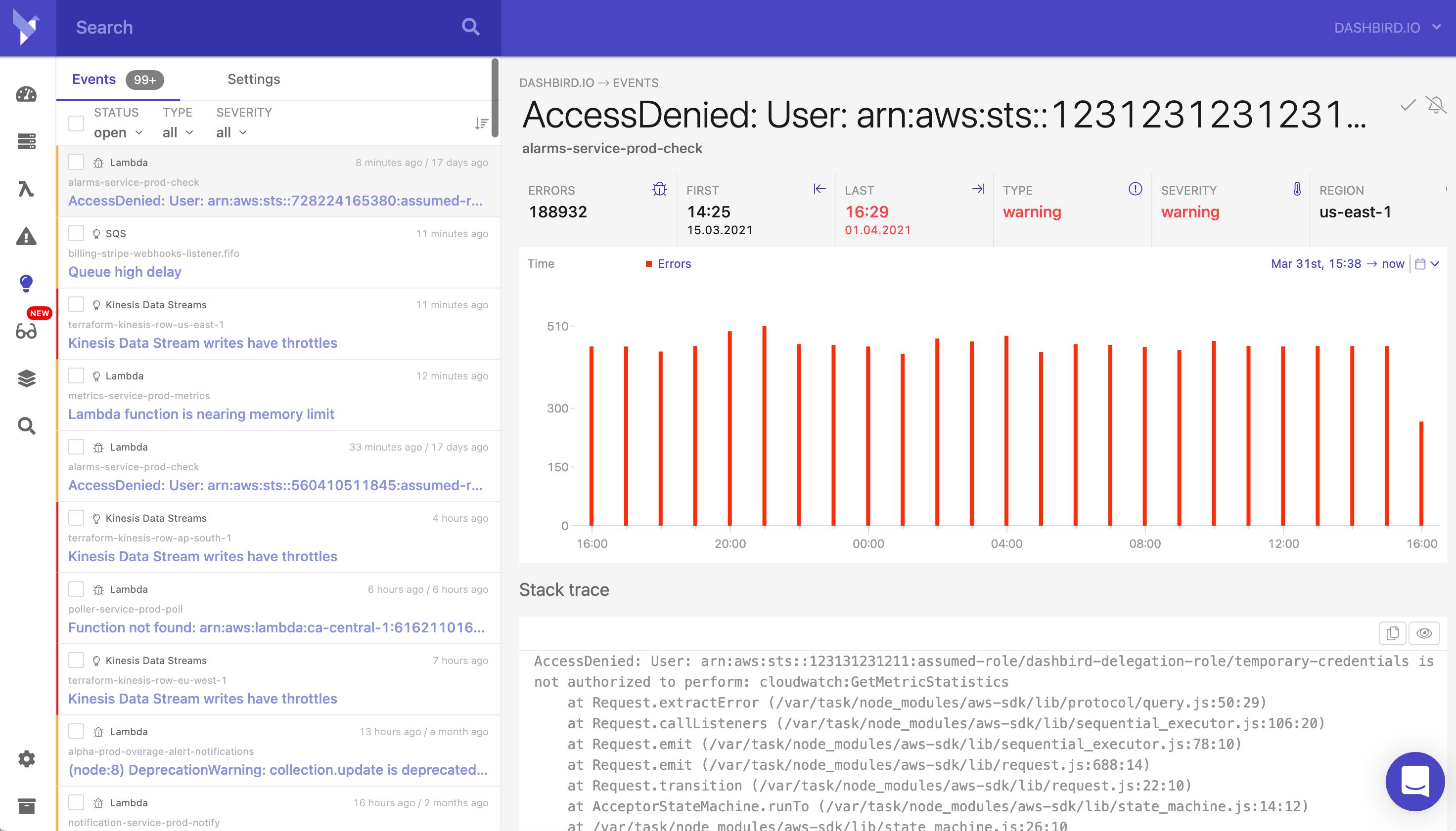 Serverless Error Tracking