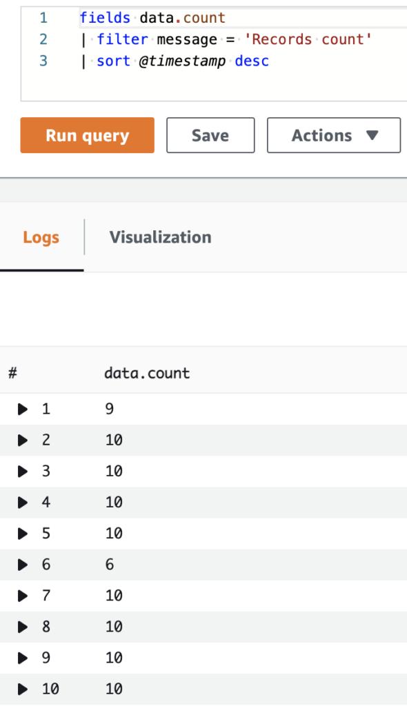 lambda records count accumulation kinesis