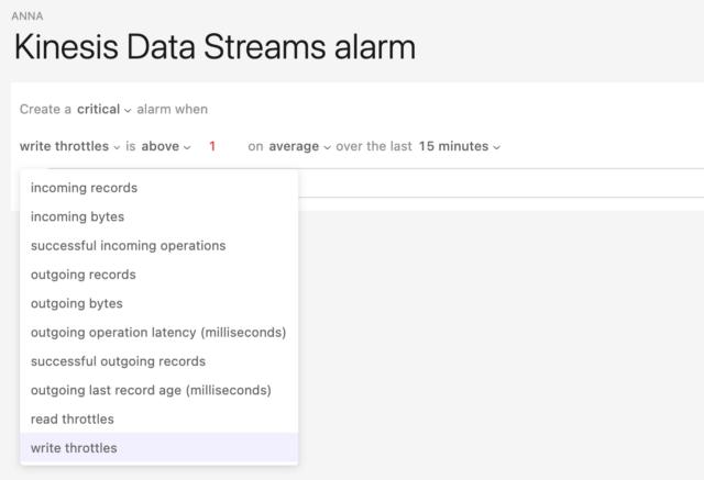 Alerts for Kinesis Data Streams in Dashbird