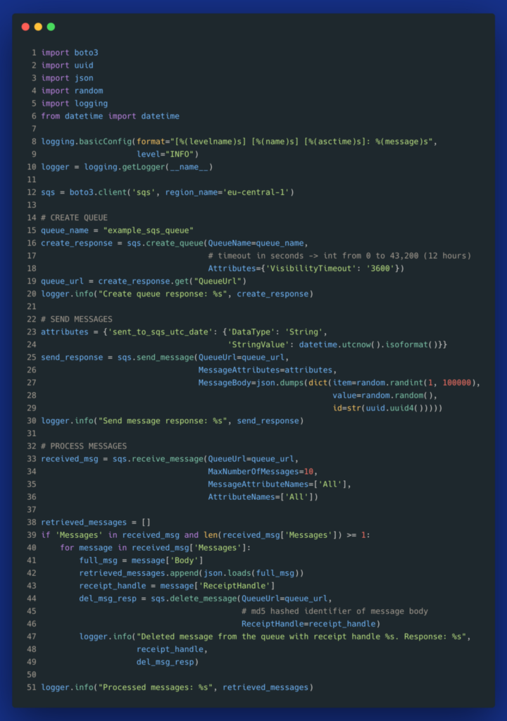 SQS usage in Python