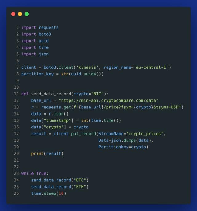 Kinesis Data Streams usage in Python
