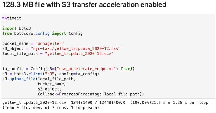 S3 Transfer Acceleration