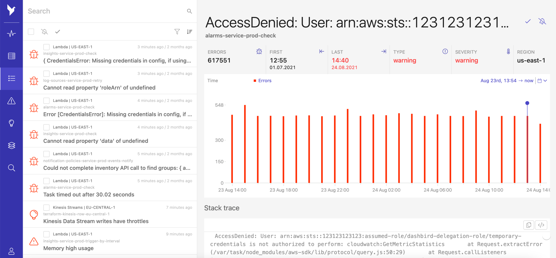 failure detection access denied